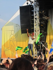 Labrinth at the 2012 Olympic Torch Relay event in Cheltenham
