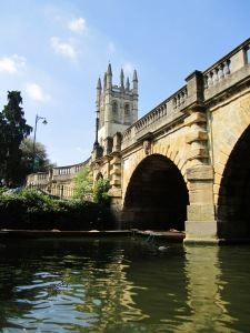 Magdalen Bridge and College from the Cherwell