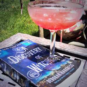 The best way to enjoy A Discovery of Witches? With a strawberry margarita on hand.
