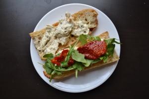 My rendition of a Pesto Chicken Salad Sandwich... so good!